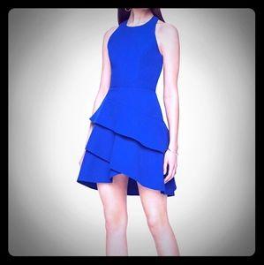 Bcbg Maxazria Chesney cut out ruffle dress